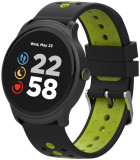 Smartwatch Canyon Oregano, Display IPS 1.3inch, 128KB RAM, 512KB Flash, Bluetooth, Bratara Silicon, Rezistent la apa, Android/iOS (Negru/Verde)