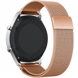 Curea ceas Smartwatch Samsung Gear S2 Rose Gold Milanese Loop, iUni 20 mm Otel Inoxidabil