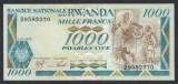 A4101 Rwanda 1000 francs amafaranga 1988 UNC