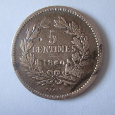 Luxembourg 5 Centimes 1860 Willem III
