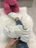 Adidasi dama albi cu platforma marime   39, 40, 41+CADOU