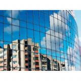 Folie Geamuri pentru Cladiri cu Protectie Solara, Argintiu, Transparenta 5%, 1x0.75m