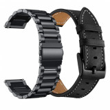 Cumpara ieftin 2x Curea ceas 22mm metalica + piele Samsung Galaxy Watch 46mm Gear S3 Huawei GT