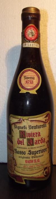 38-VIN RISERVA RIVIERA DEL GARDA, VENTURELLI, DOC,  recoltare 1973 cl 72 gr 12,5