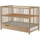 Cumpara ieftin Patut copii din lemn Pentru Copii Dominic 120x60 cm natur cu sertar, Hubners