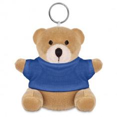 Breloc ursulet, Everestus, KR0146, bumbac, poliester, albastru