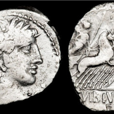 Moneda antica -Denarius de argint -Republica Romana 90 B.C.