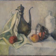 Natura statica cu fructe// ulei pe carton subtire, Realism