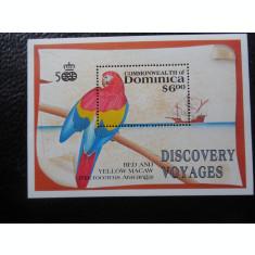 DOMINICA-PAPAGAL-BLOC NESTAMPILAT