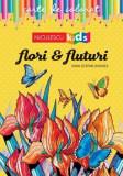 Carte de colorat - Flori si Fluturi/Ioan-Stefan Zandes