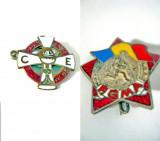 809A- Insigne si brelocuri vechi romanesti, cateva straine.