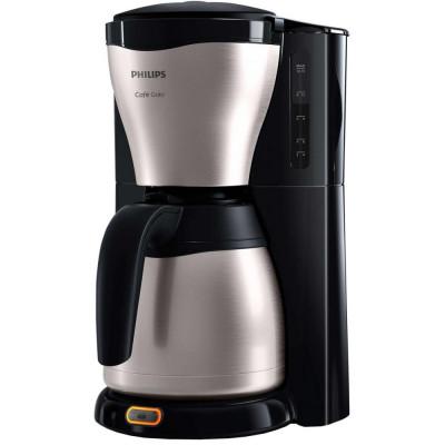 Cafetiera Philips Café Gaia HD7546/20, 1000W, Sistem Anti-picurare, Vas termorezistent din otel inoxidabil, 1.2 l, 2-15 cesti, Negru/Metalic foto