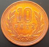 Moneda 10 YEN - JAPONIA, anul 1993  *cod 11 = UNC!