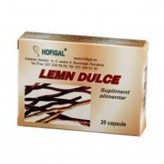 Lemn dulce 20 capsule - Hofigal