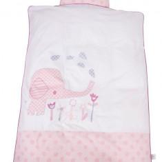 Lenjerie de pat bebelusi Baby Dan Elefantastic Roz 100 x 140 cm