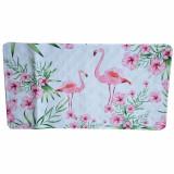 Cumpara ieftin Covoras pentru baie antiderapant Pufo Flamingo cu ventuze, 38 x 70 cm