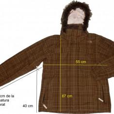 Geaca ski outdoor THE NORTH FACE ventilatii, impecabila (dama L/XL) cod-446146