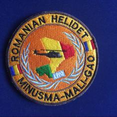 Efecte Militare - Emblemă militară textilă-Patch militar- Romanian Helidet -Mali