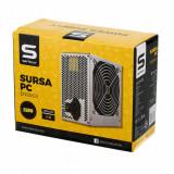 Cumpara ieftin Sursa Serioux Energy 550W, Ventilator 12cm, Protecții: OCP/OVP/UVP/SCP/OPP, Cabluri: 1*20+4pin, 1*4+4pin, 1*PCI-E 6+2pin, 2 *Mol
