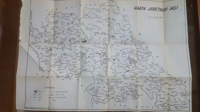 Harta Județului Iași, 1972, 10-40 km foto