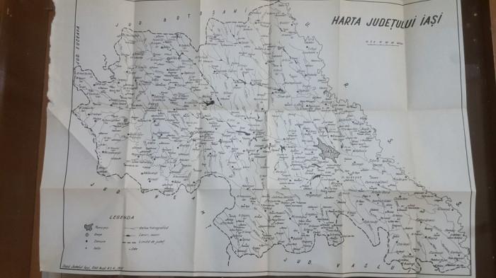 Harta Județului Iași, 1972, 10-40 km