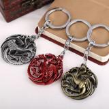 Breloc film Game Of Thrones Targeryan Badge metalic + ambalaj cadou