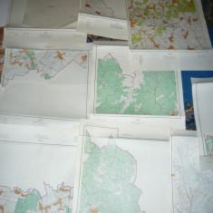 Set 23 Harti Cadastrale Judet.Prahova ,dim.=51x45cm buc. ,pr.'70 ,ed.1976