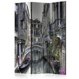 Paravan din 3 parti - Romantic Venice - 135x172cm, Artgeist