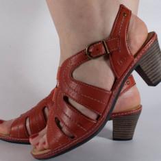 Sandale Reflexan rosii piele naturala (cod 72210-05), 36 - 40