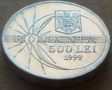Moneda 500 LEI - ROMANIA, anul 1999  *cod 1462 - ECLIPSA