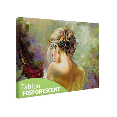 Tablou fosforescent Spate de femeie foto