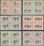 1966 Romania - Dansuri populare, blocuri de 4 timbre LP 626 MNH