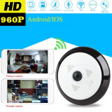 Camera Supraveghere IP Panoramica,HD 960p,Inflarosu,Suport 128 GB,Android,iOs