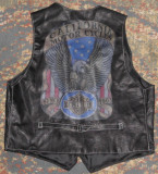 Vesta de piele cu imprimeu California rock,chopper biker/motociclist,marimea XXL