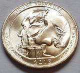 25 cents / quarter 2013 SUA, South Dakota, Mount Rushmore, litera D, America de Nord