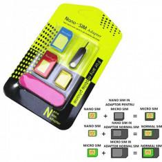 Adaptor Cartela Nano Sim la Micro si Standard Sim 5in1