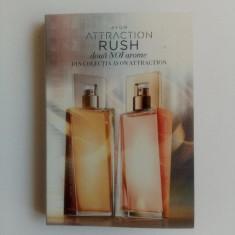 Mostre in sticlute cu brochura - Attraction Rush ea si el - Avon - NOU
