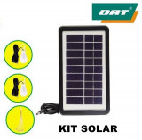 Cumpara ieftin KIT SOLAR CU 3 BECURI INCLUSE,ACUMULATOR,PANOU SOLAR,USB,LANTERNA,IDEAL CAMPING!