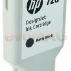 Cartus cerneala HP DesignJet 728, 300 ml (Negru mat)