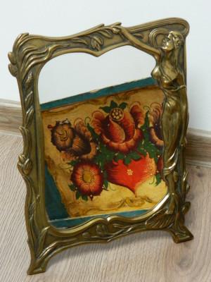 Oglinda bronz vintage foto