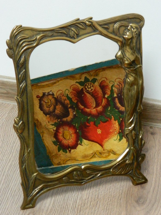 Oglinda bronz vintage