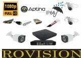 Cumpara ieftin Kit 4 camere supraveghere Full HD 2MP 1080p + DVR 4 canale 5MP + Sursa + Cablu + Mufe + Cablu HDMI