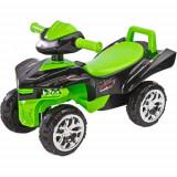 Vehicul Ride-On Mini Raptor 2 in 1 cu Sunete si Lumini Verde, Toyz