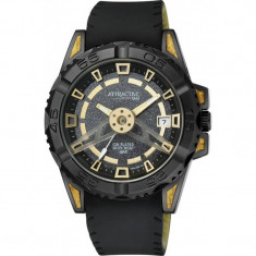 Ceas B?rb?tesc Q&Q Attractive Gold & Black DA52J502Y