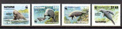 GUYANA 1993, Fauna, WWF, serie neuzata, MNH foto