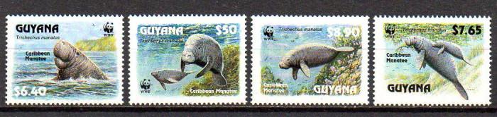 GUYANA 1993, Fauna, WWF, serie neuzata, MNH