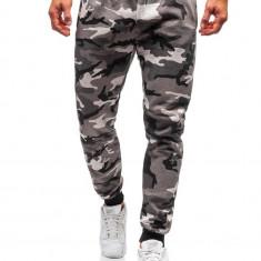 Pantaloni de training bărbați camuflaj-gri Bolf KZ15
