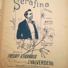 Serafina, chansonette, cree par Mayol