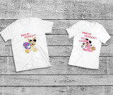 Cumpara ieftin Tricouri Cuplu – Paste-fericit-M&M-bunny