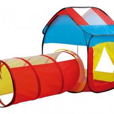 Cort de joaca pentru copii interior/exterior- Cort cu tunel Multicolor